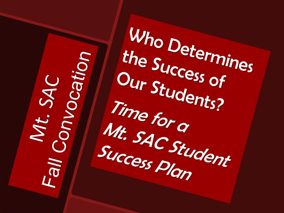 What does Student Success mean to you?