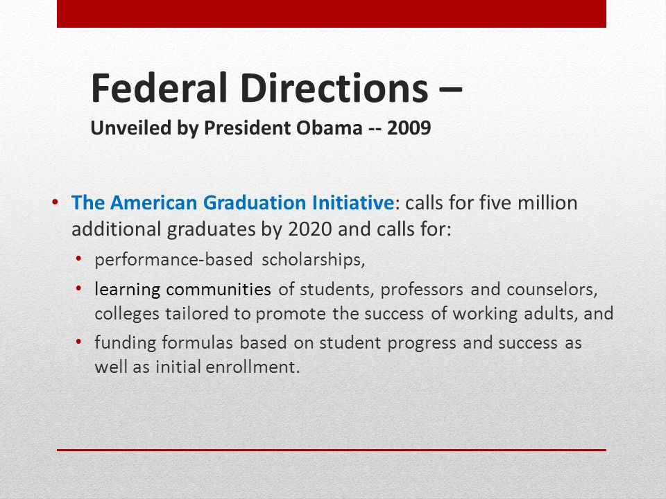 Student Success Task Force Recommendations Under Consideration MANDATORY assessment MANDATORY placement MANDATORY orientation Require degree-seeking students to declare program focus and update annually (MANDATORY Ed Plan) Require students to enroll in courses according to well-publicized and strictly enforced registration dates