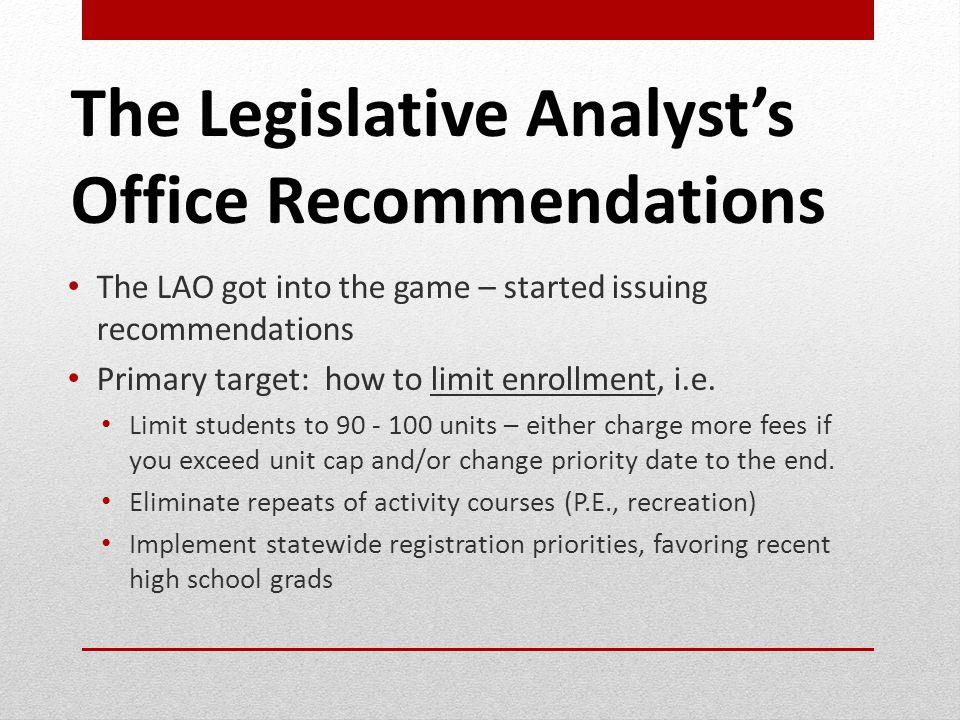 Changes to Policies/Programs Regarding Persistence 1.