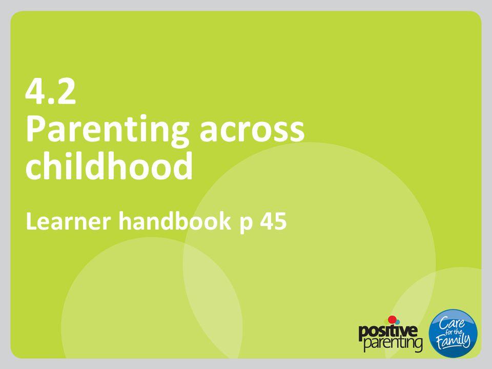 4.2 Parenting across childhood Learner handbook p 45