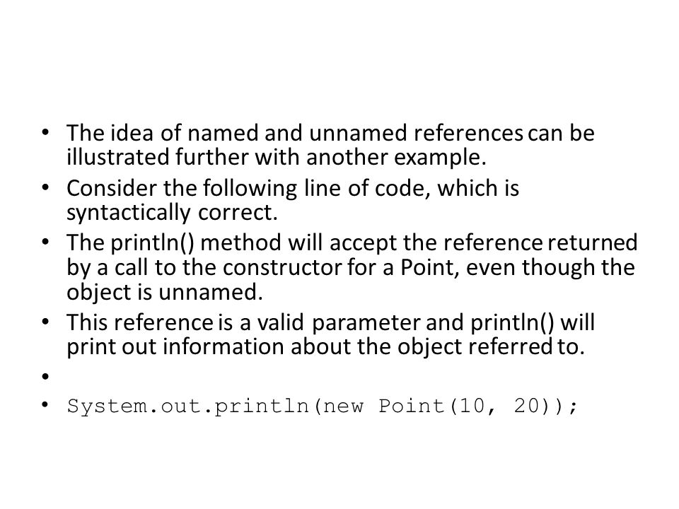 Code where one call is contained in another is not particularly easy to read or understand, and the use of unnamed references is generally not very clear.