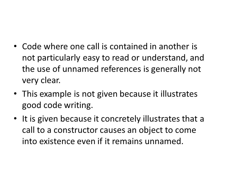 If an object has been constructed and given a name, methods can be used on it.