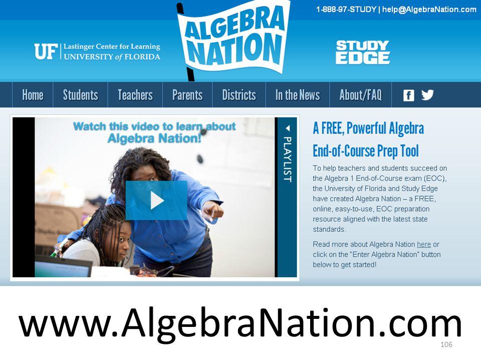 www.AlgebraNation.com 106