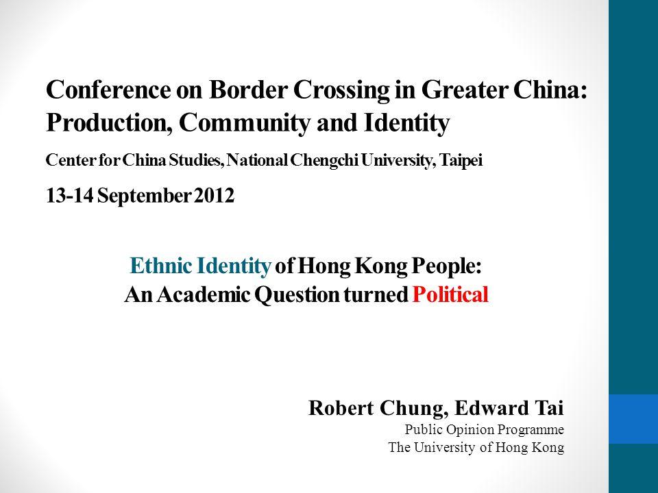 Describing the Trend of Ethnic Identities 12