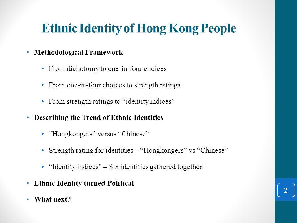 Describing the Trend of Ethnic Identities 13