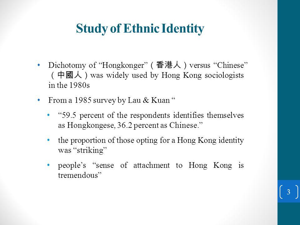 Describing the Trend of Ethnic Identities 14