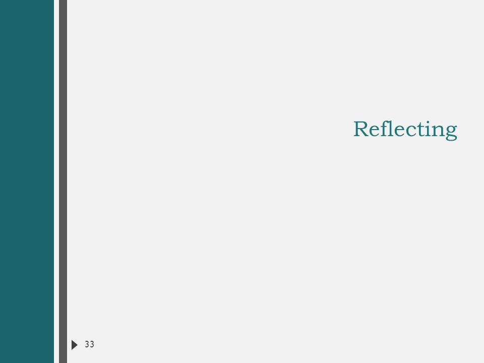 Reflecting 33