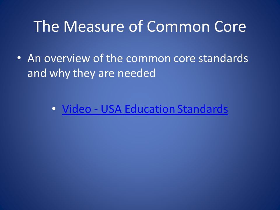 Common Core Math Standards The Common Core standards provide students with a solid foundation in – whole numbers – addition and subtraction – multiplication and division – fractions and decimals The standards stress not only procedural skills but also conceptual understanding Integrating real world problems