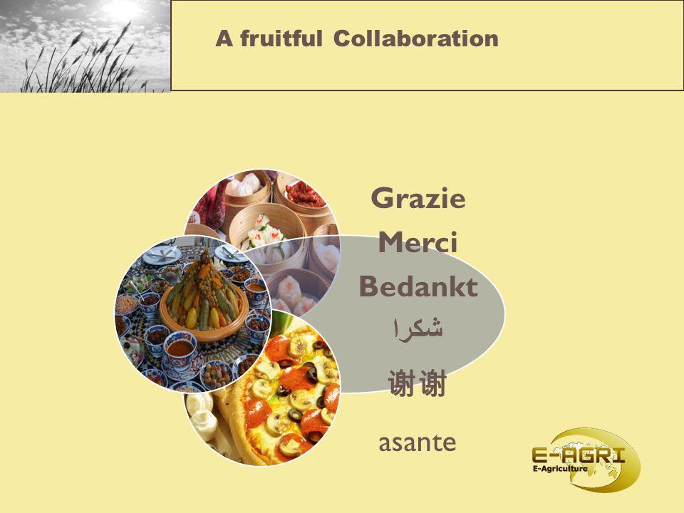 A fruitful Collaboration Grazie Merci Bedankt شكرا 谢谢 asante