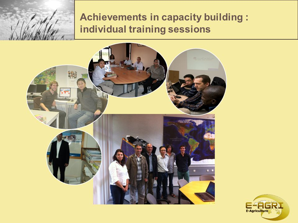 Achievements in capacity building : individual training sessions