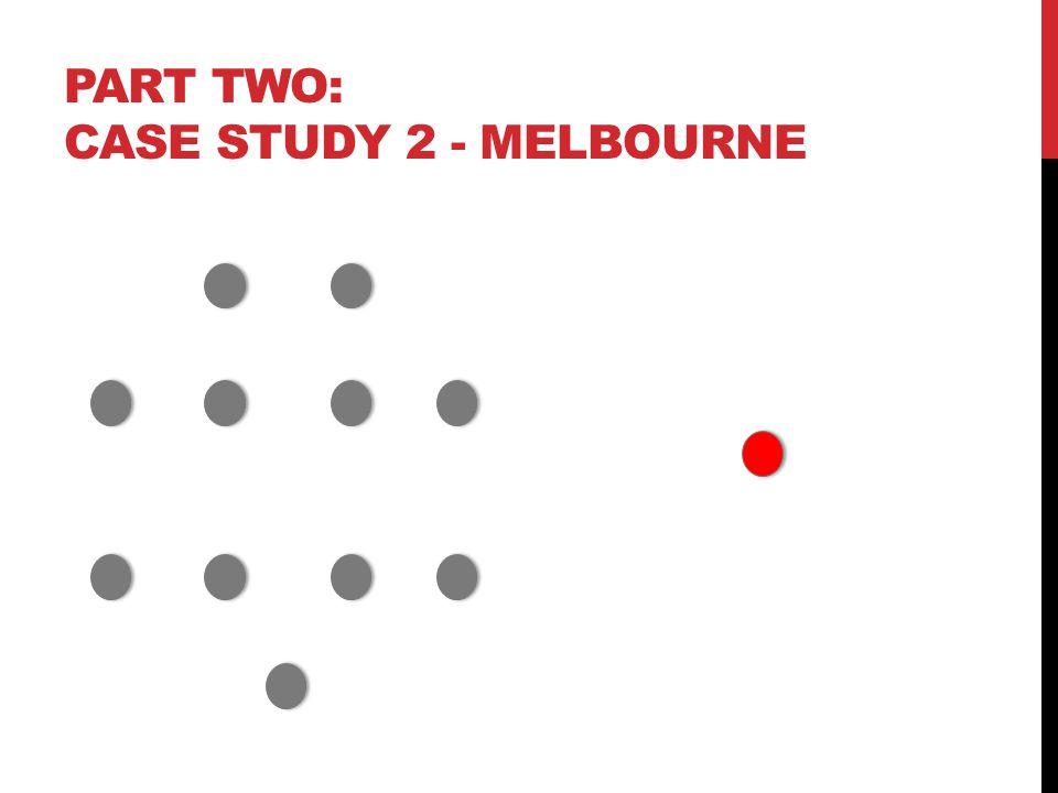 PART TWO: CASE STUDY 2 - MELBOURNE