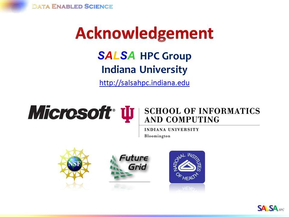 SALSA HPC Group Indiana University http://salsahpc.indiana.edu