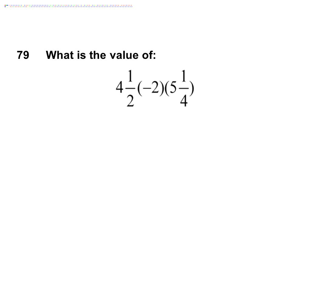 79What is the value of: