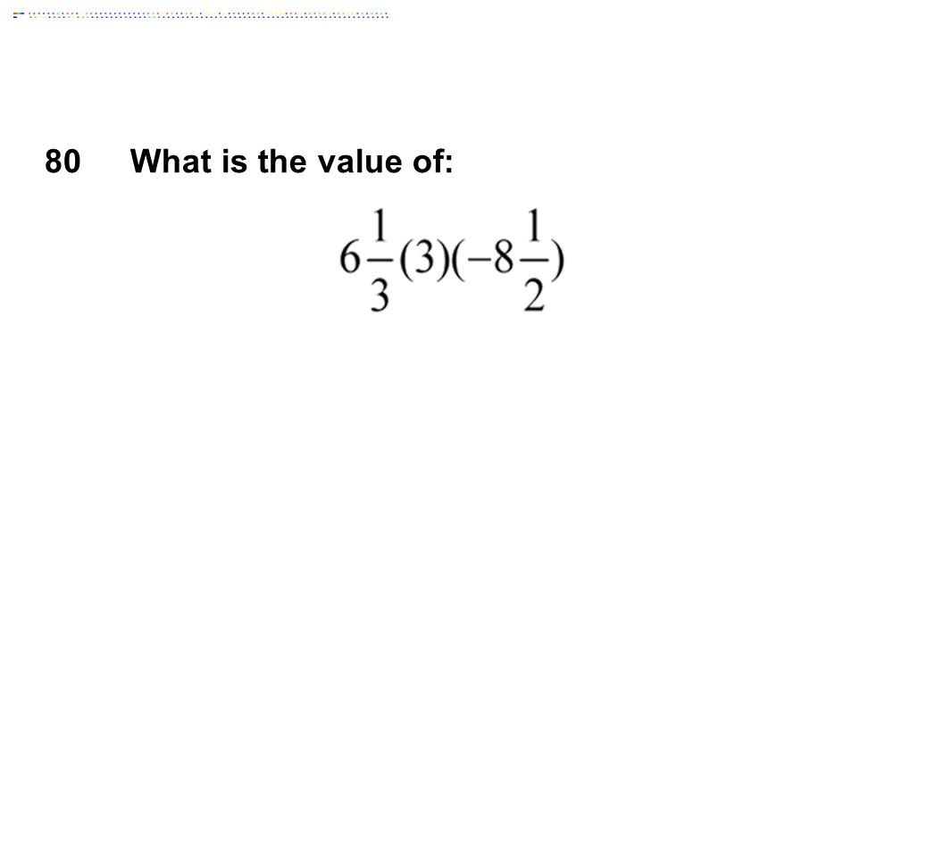 80What is the value of: