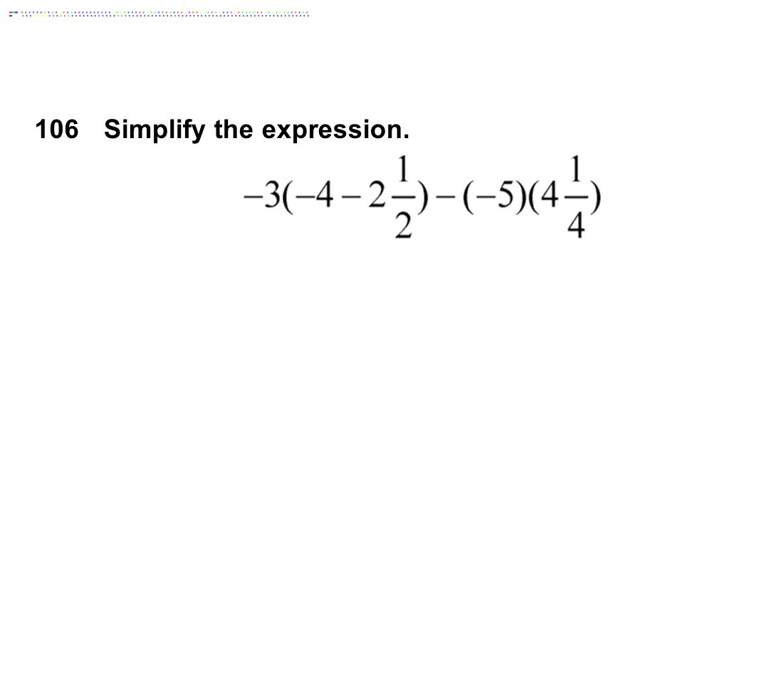 106Simplify the expression.