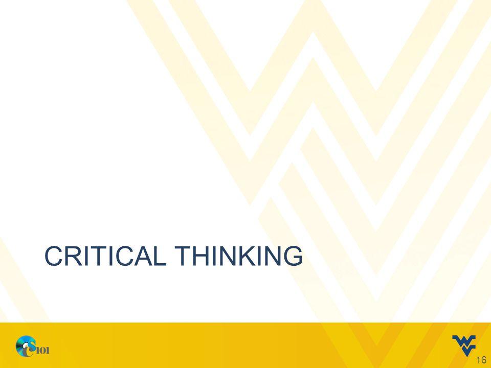 CRITICAL THINKING 16
