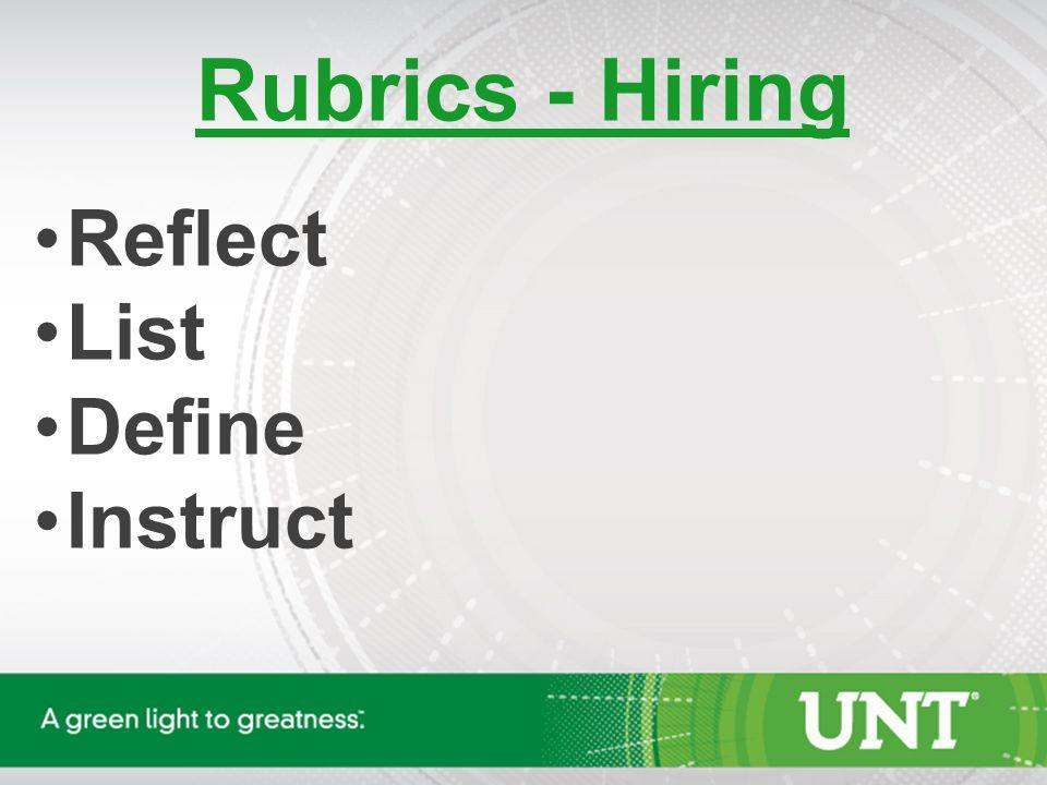 Rubrics – Evaluating Review List Describe Communicate