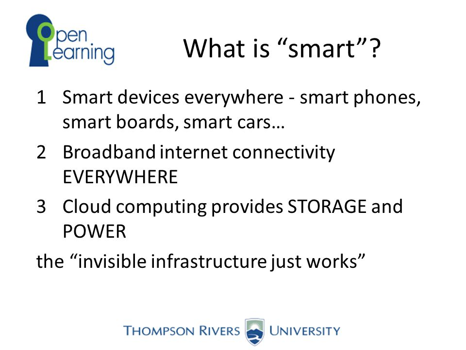 The Smart Triangle Cloud Computing Connectivity Smart Devices Innovation Infrastructure