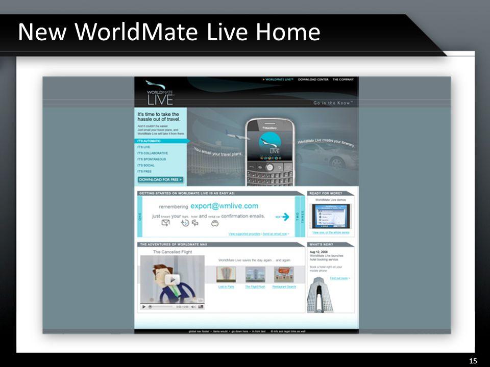 New WorldMate Live Home 15