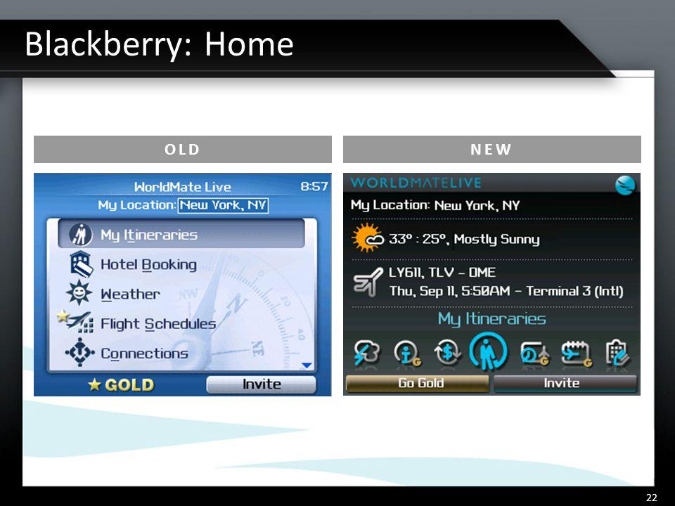 Blackberry: Home 22 OLDNEW