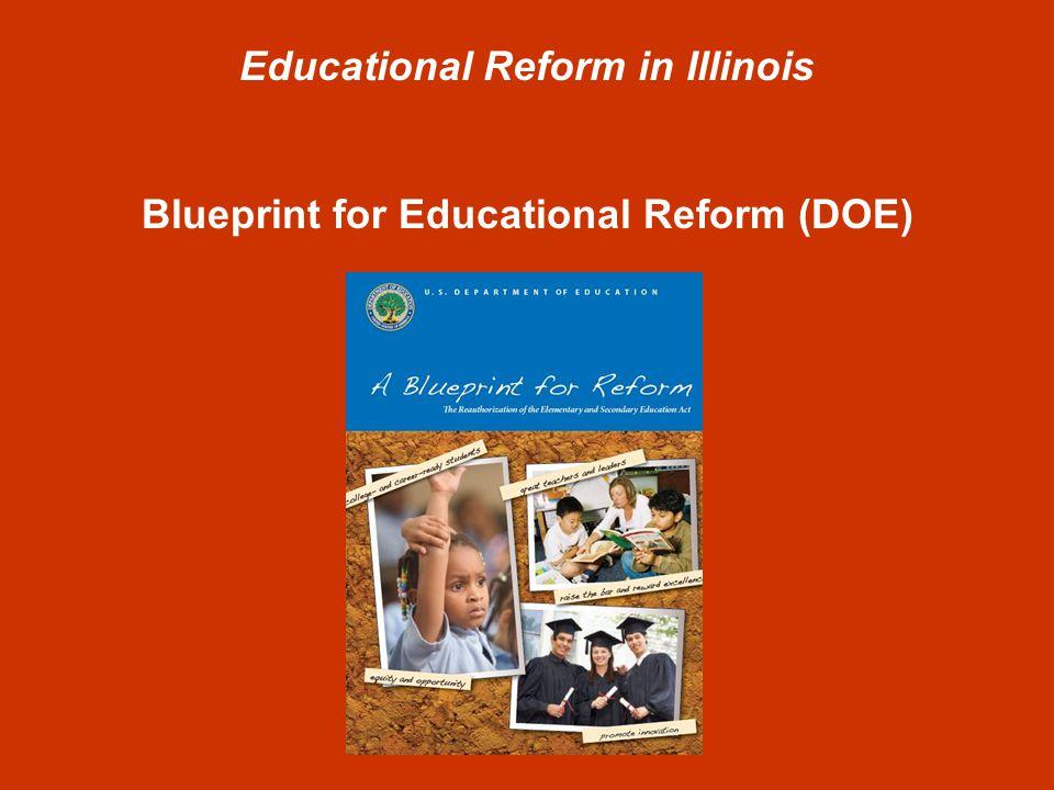 Educational Reform in Illinois Blueprint for Educational Reform (DOE) Four Focus Areas 1.