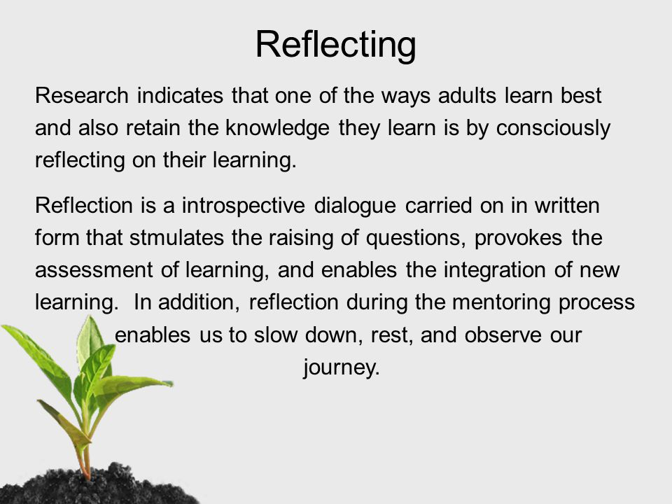 Being Reflective