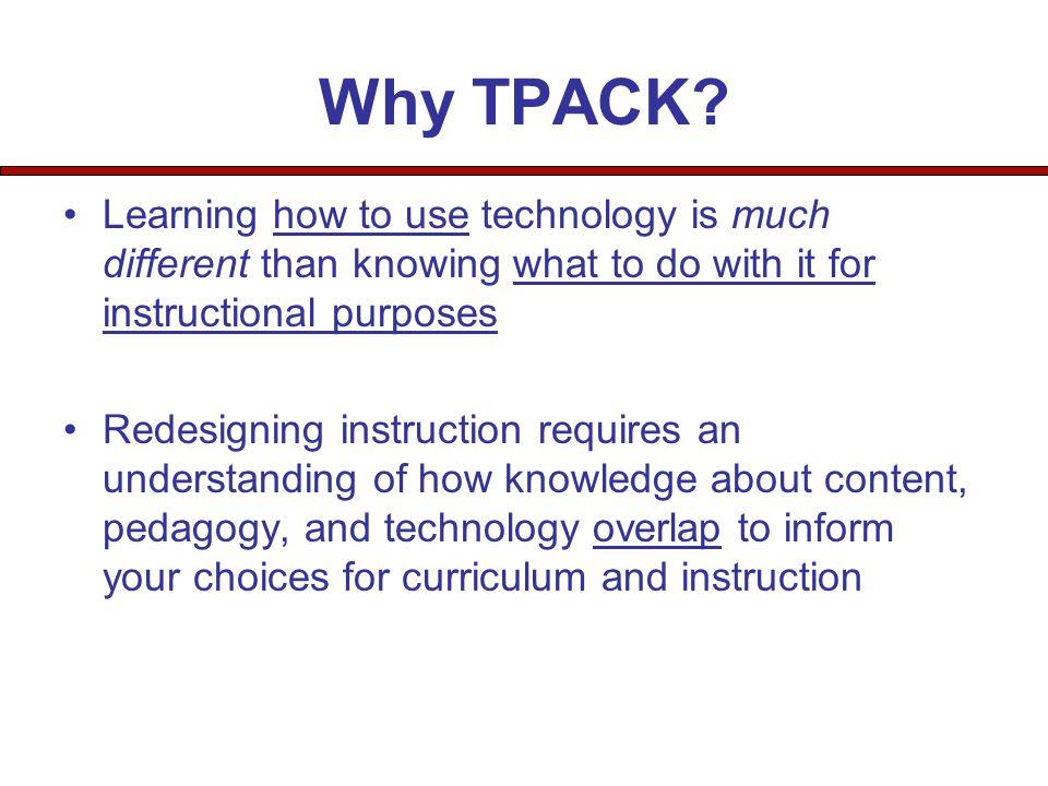 Why TPACK.