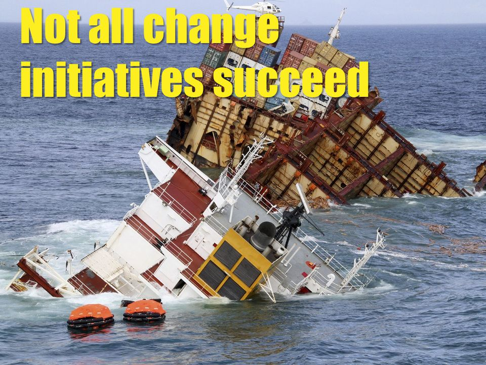 Not all change initiatives succeed