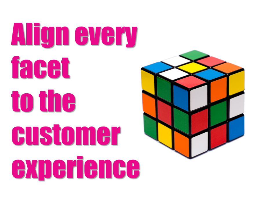Align every facet to the customer experience