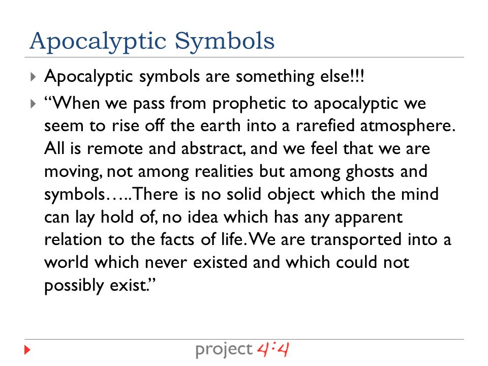  Apocalyptic symbols are something else!!.