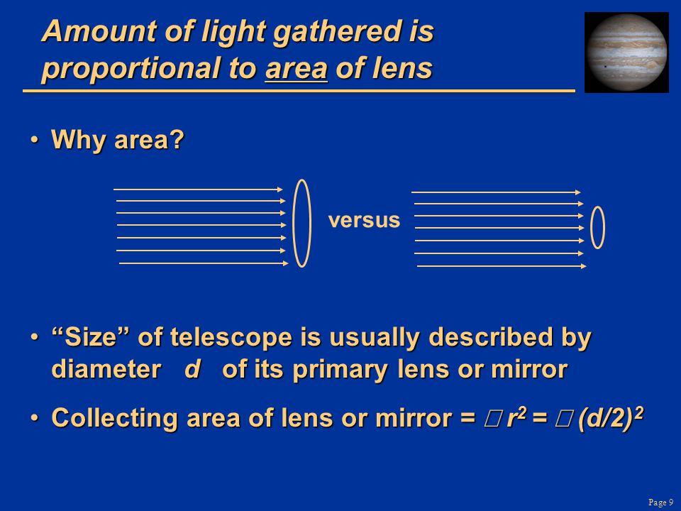 Page 50 Neptune in infra-red light, Keck Telescope adaptive optics Without adaptive optics With adaptive optics 2.3 arc sec