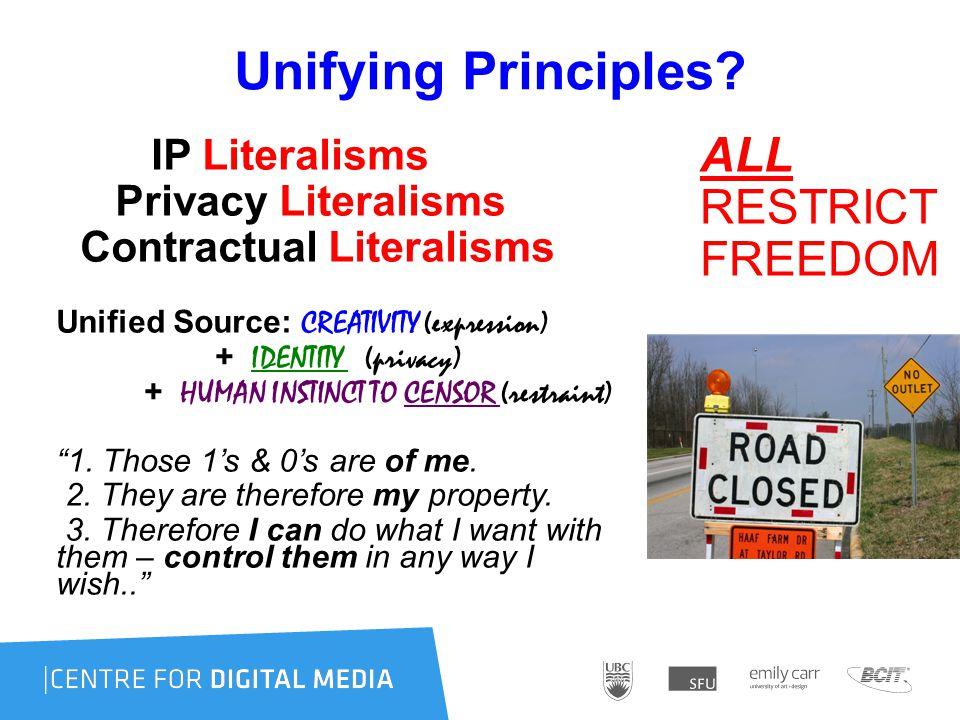 Unifying Principles.