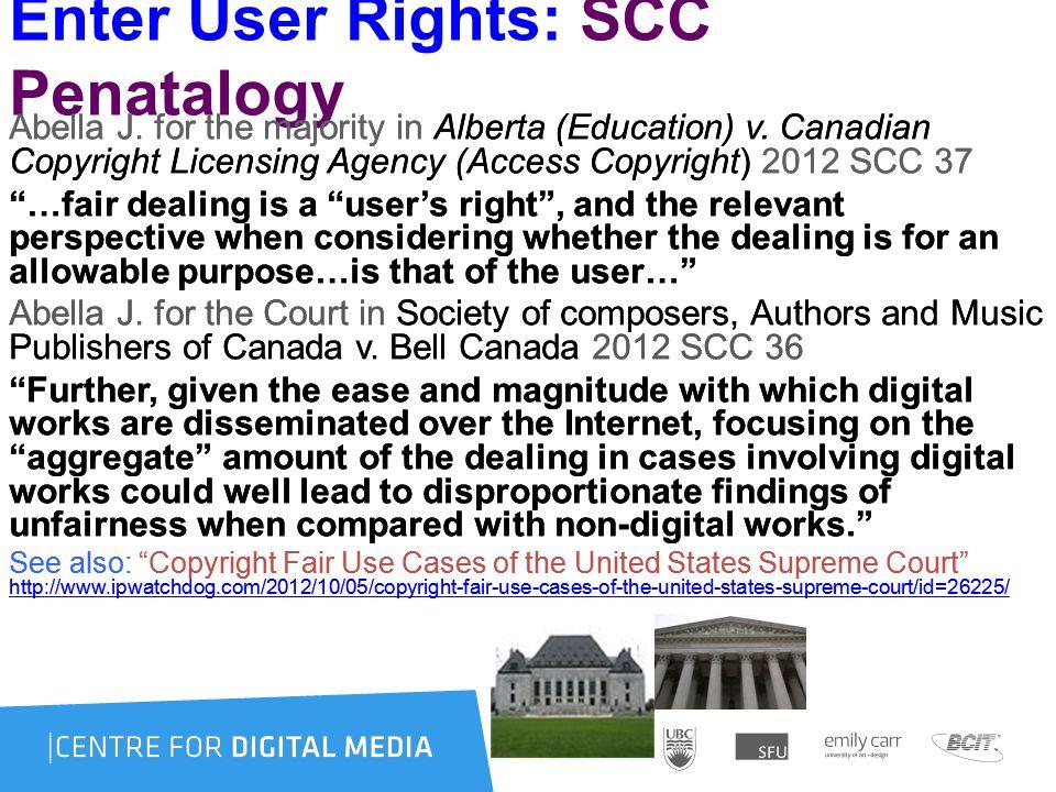 Enter User Rights: SCC Penatalogy Abella J. for the majority in Alberta (Education) v.