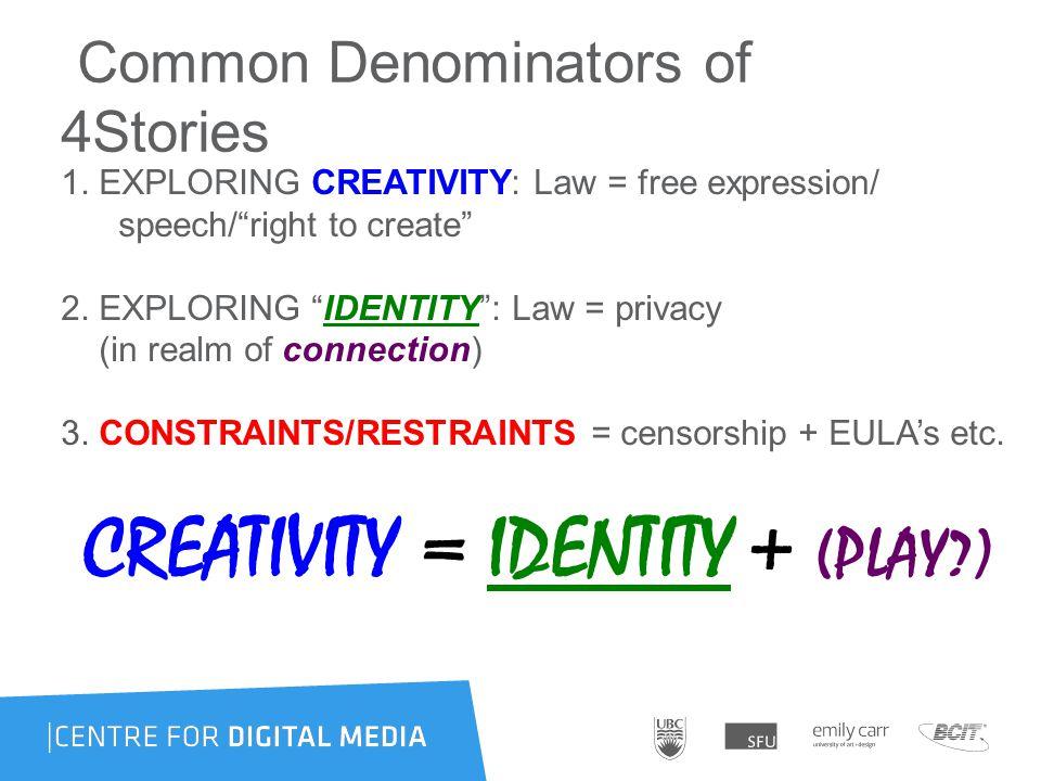 Common Denominators of 4Stories 1.