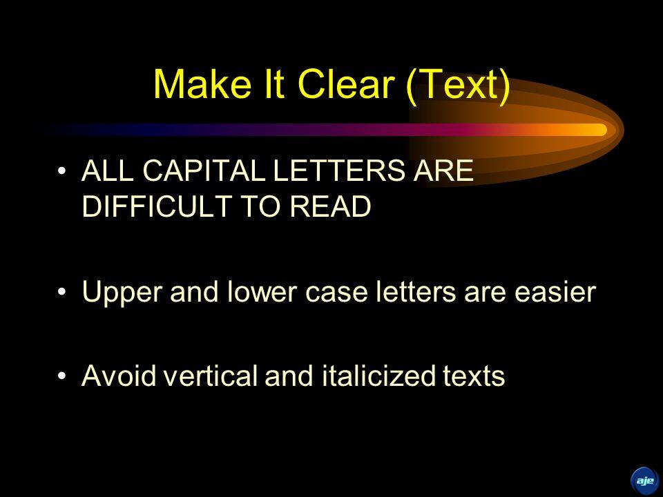 Make It Clear