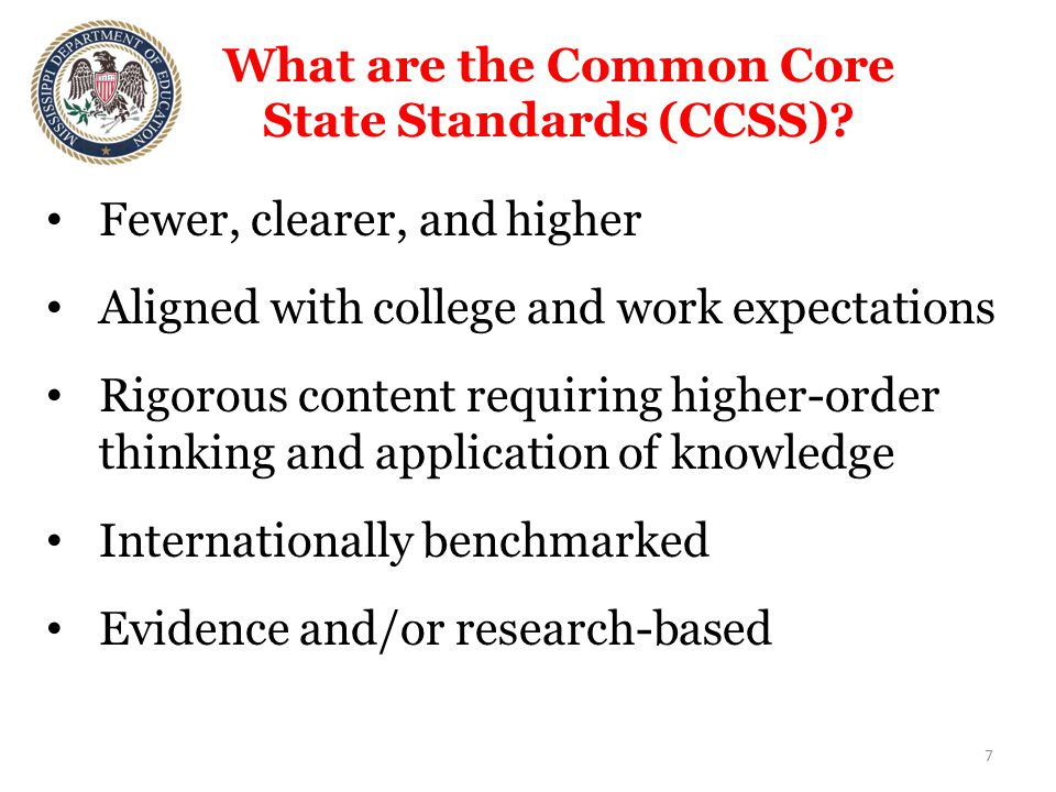 What are the Common Core State Standards (CCSS).