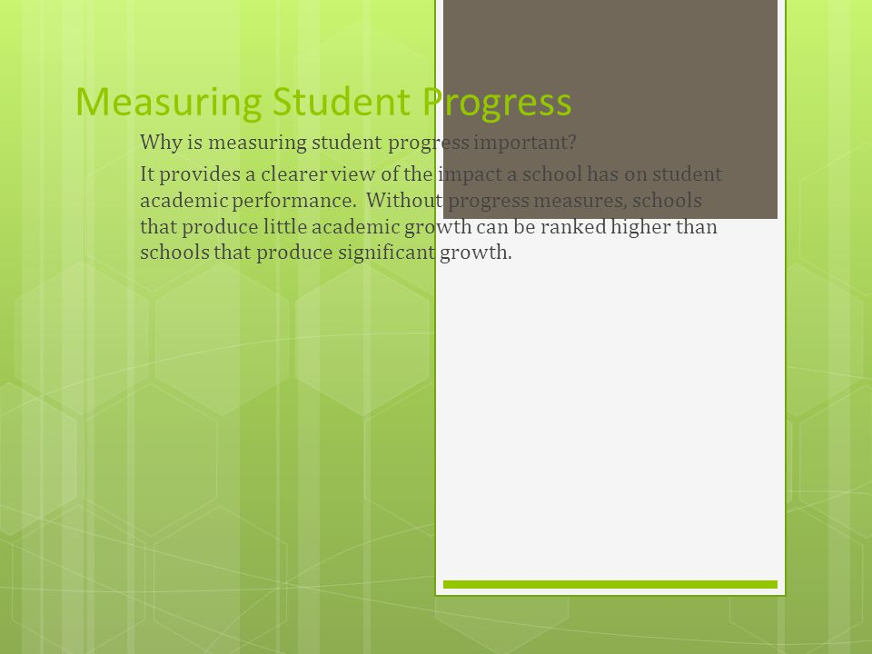Measuring Student Progress Why is measuring student progress important.