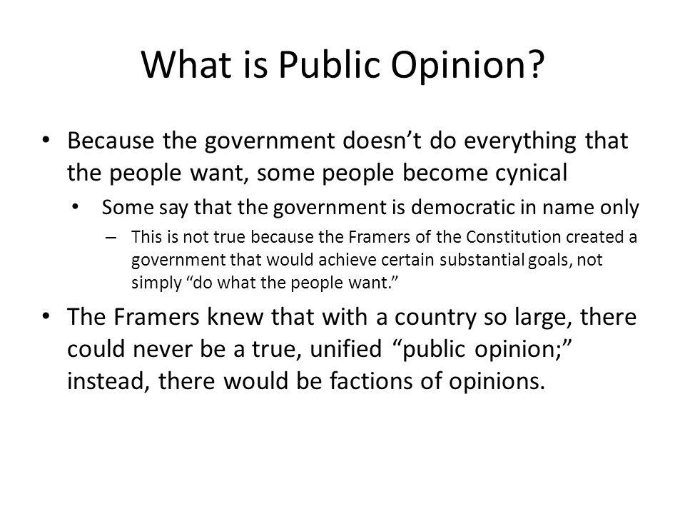 What is Public Opinion.
