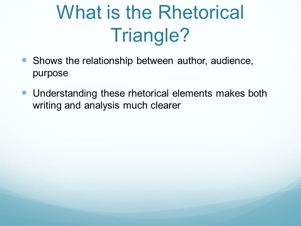 What is the Rhetorical Triangle.