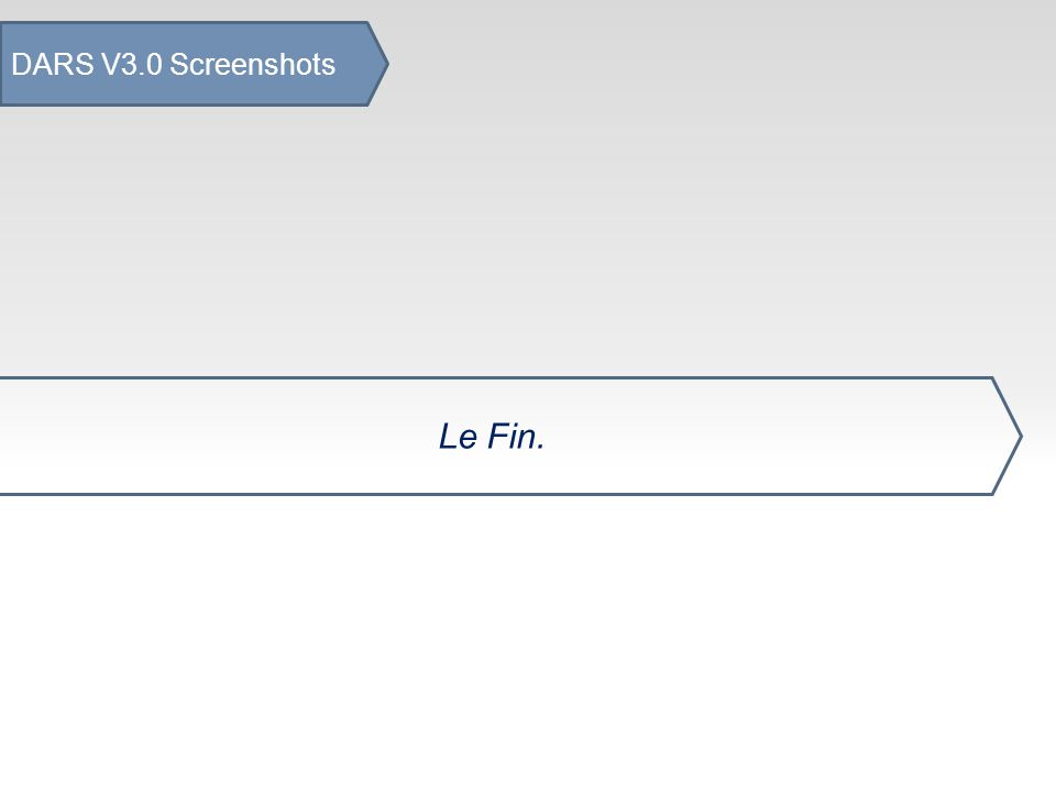 DARS V3.0 Screenshots Le Fin.