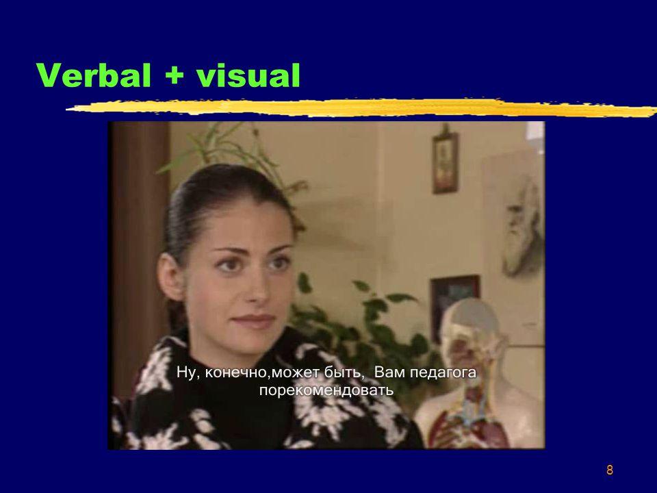 8 Verbal + visual