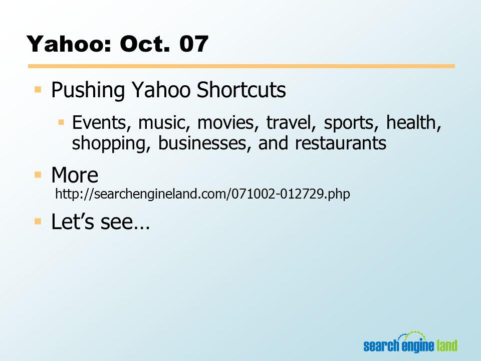 Yahoo: Oct.