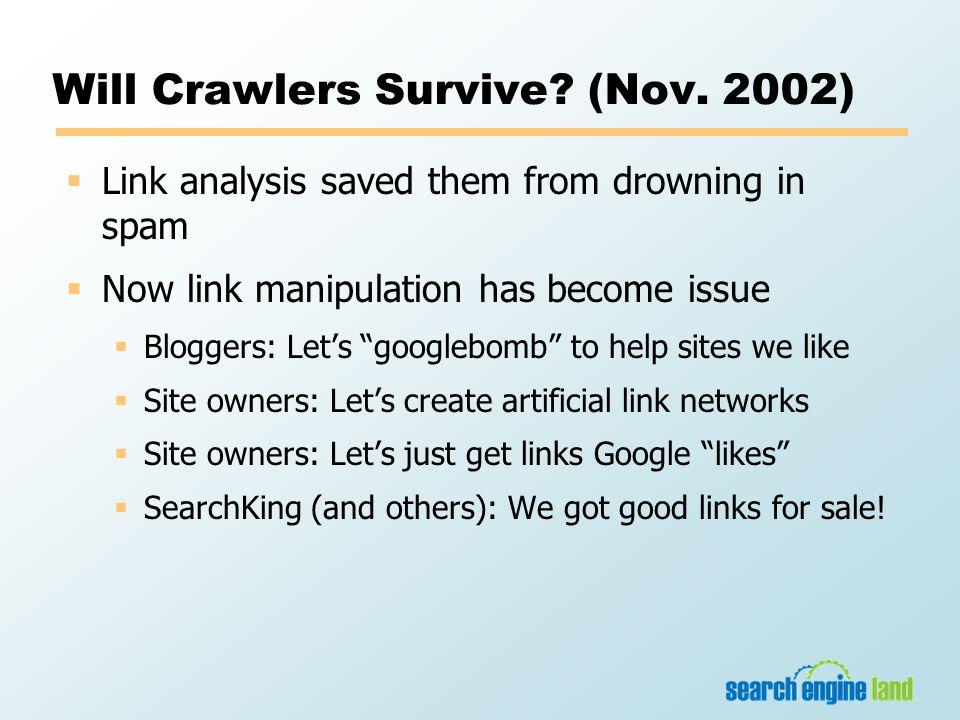Will Crawlers Survive. (Nov.