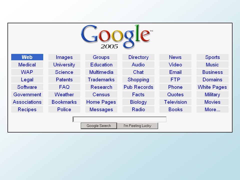 Search Versus Discovery  Search is an on-demand, have particular need to fulfill activity  Discovery is related but less specific in what you want  StumbleUpon, Digg  iGoogle related magic tabs