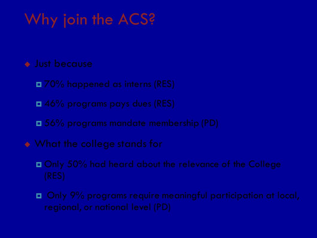 Why join the ACS.