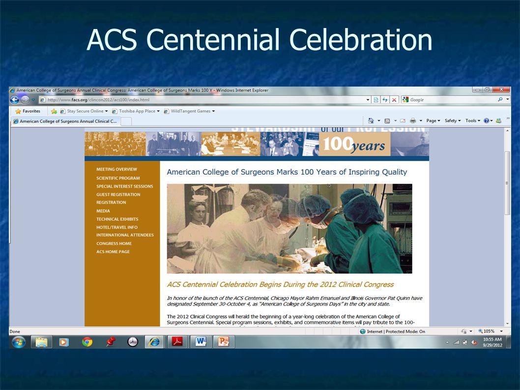 ACS Centennial Celebration