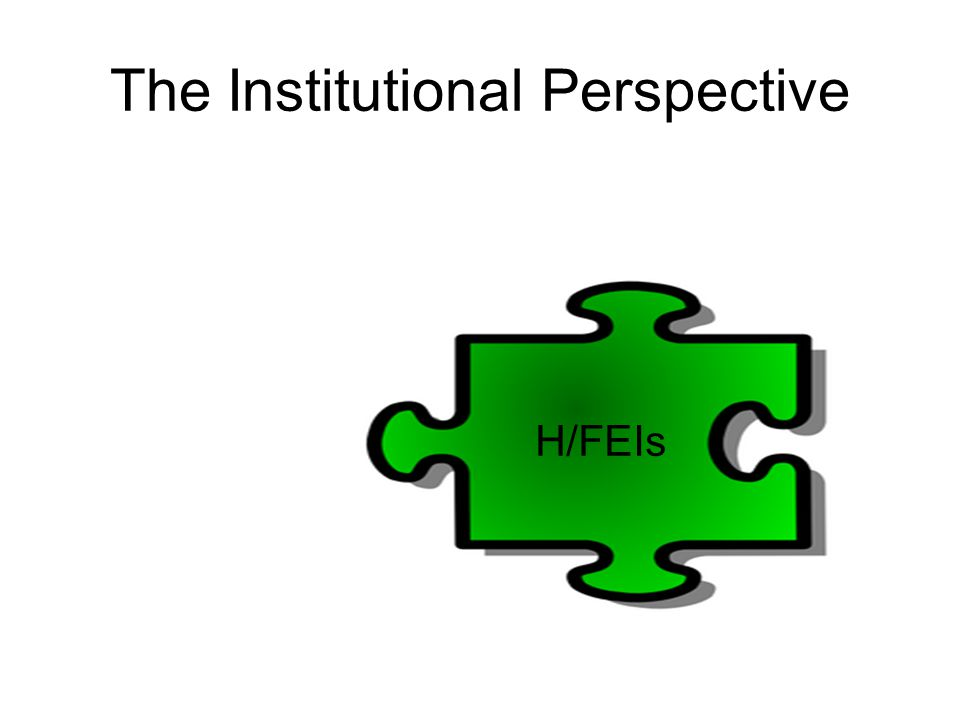 The Institutional Perspective H/FEIs