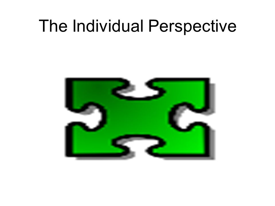 The Individual Perspective