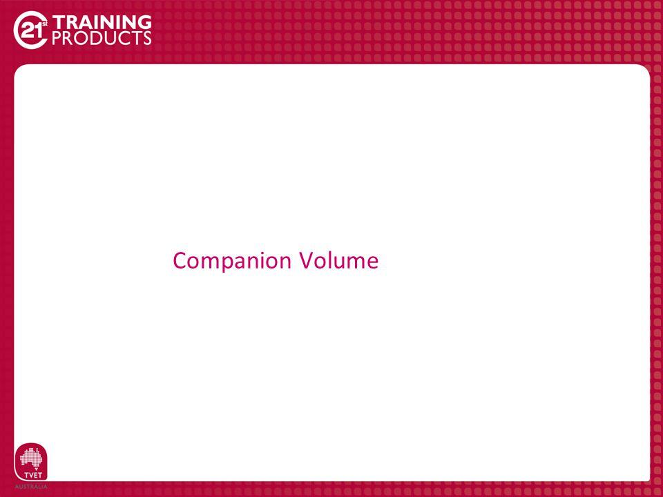 Companion Volume