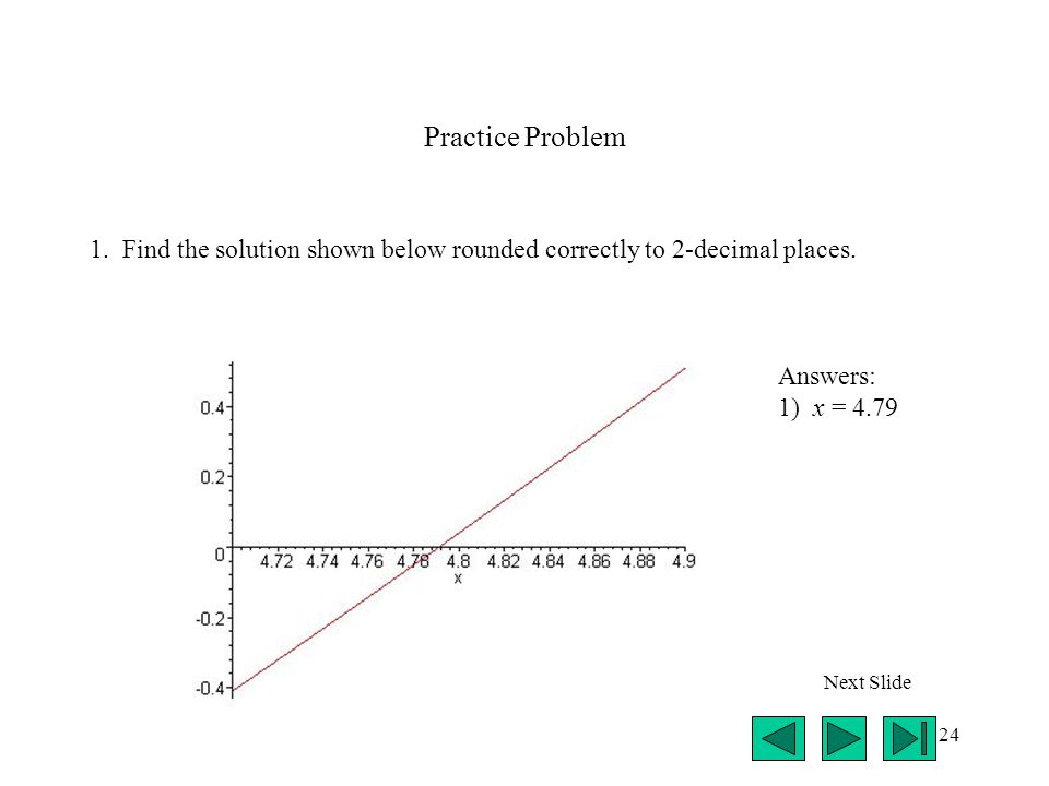 24 Practice Problem 1. Find the solution shown below rounded correctly to 2-decimal places.